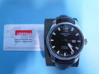 Certina Automatic Uhr Schwarzes Ziffernblatt Ovp Bild