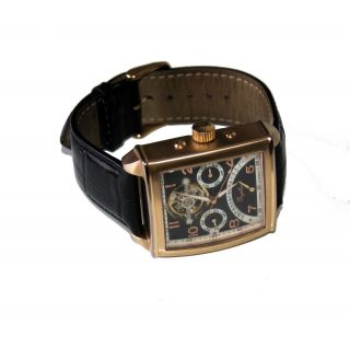 Engelhardt Herren Uhr Automatik Uhr Rose Gold Armbanduhr Bild