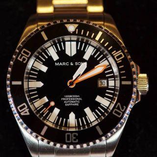 Taucheruhr Herren Marc & Sons Msd - 018 Diver 300m,  Automatisch,  Mit Bild