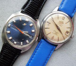 Kl.  Konvolut 2x Enicar Swiss Uhren Automatic - Bastler Bild