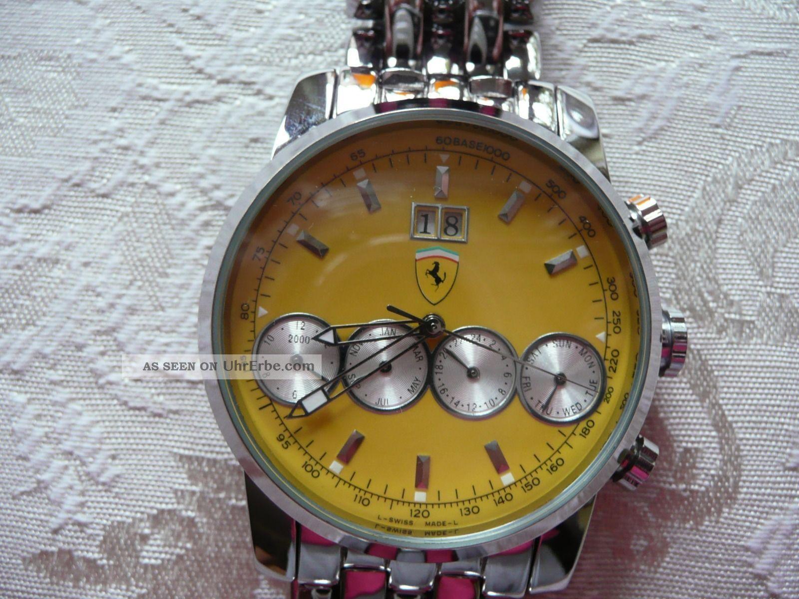 Ferrari Uhr,  Gelb Armbanduhren Bild