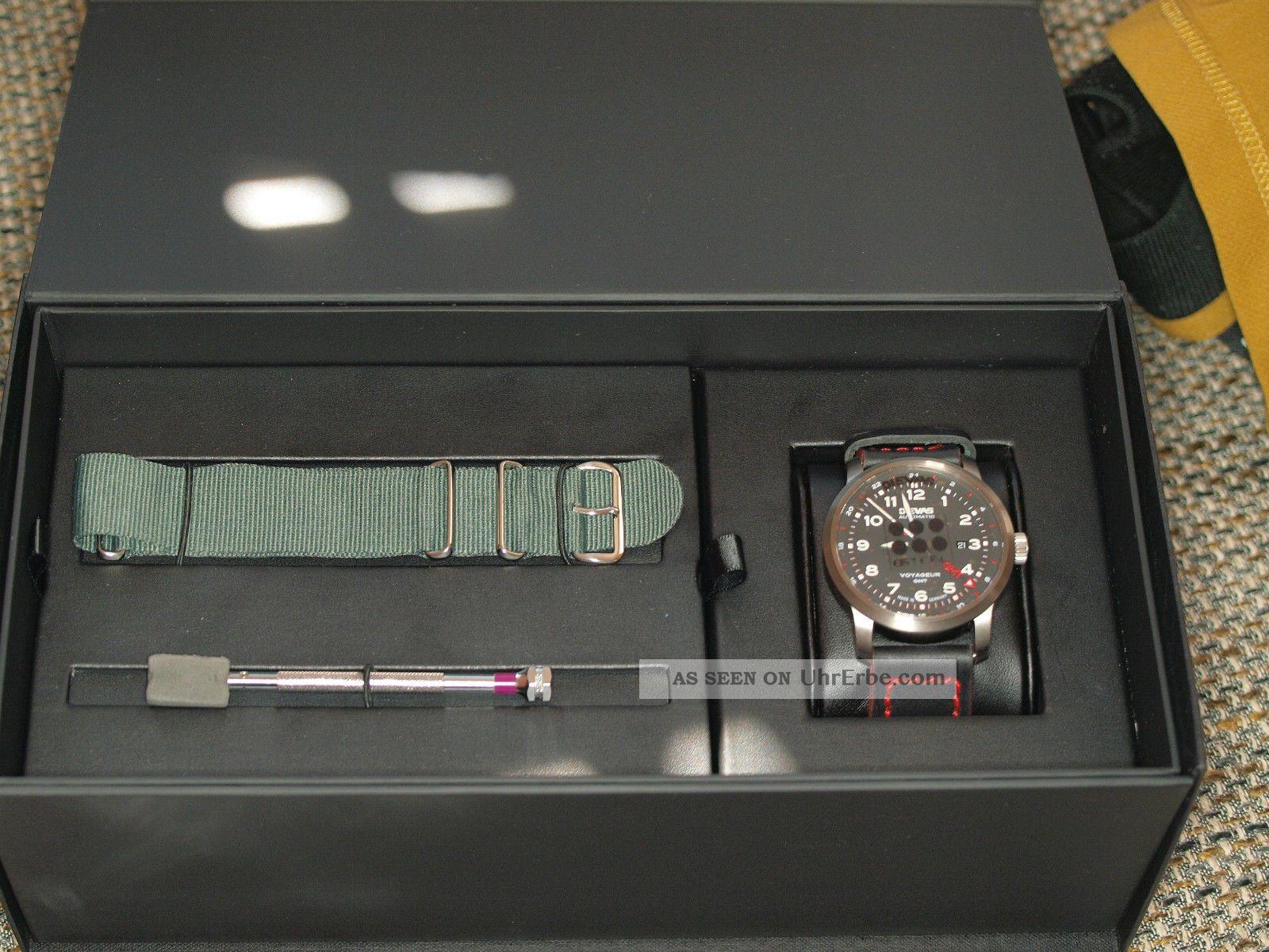 Einsatzuhr Dievas Voyageur Gmt Armbanduhr Und Ovp Eta 2893 - 2 Armbanduhren Bild
