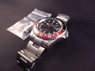 Alpha Gmt Automatic Diver Mit Stahlarmband Und Schwarz - Roter Lünette Bild
