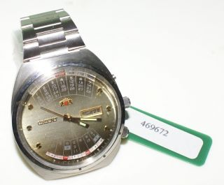 Orient Kalender - Y 469672 - 4a - Automatik Uhr Perpetual Calendar Tag,  Datum Bild