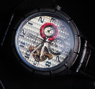 Königswerk Uhr Damen Herren Automatik Mercurius Schwarz Glasboden Bild