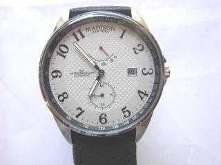 Madison York Automatic Waterresistant 50m Armbanduhr Ungetragen Bild