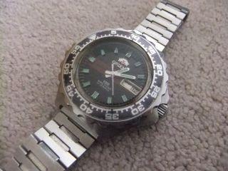 Vintage Orient 100 King Diver 21 Jewel Automatic Mens Watch Divers Y489601 - 60 Pr Bild