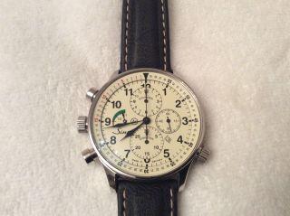 Sinn Armbanduhr 917 Chronograph Automatik Herren Uhr 44 Mm Bild