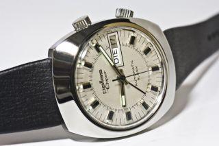 Pallas Eppo Alarm Automatic Edelstahl As 5008 Daydate Deutschland/pforzheim 1975 Bild
