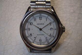 Geneve Swiss Automatic Herren Armbanduhr Kal Eta 2824 - 2 Guter Gebr. Bild