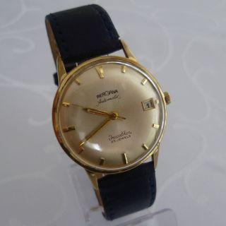 Vintage Bergana Herren Armbanduhr Automatic,  25 Jewels,  Vergoldet Bild