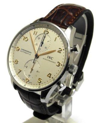 Iwc Schaffhausen Portugieser Chronograph Ref 3714 Bild