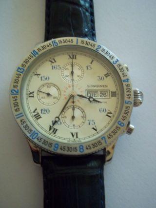 Longines Hour Angle Charles A.  Lindbergh Navigator Stundenwinkel Chronograph Bild