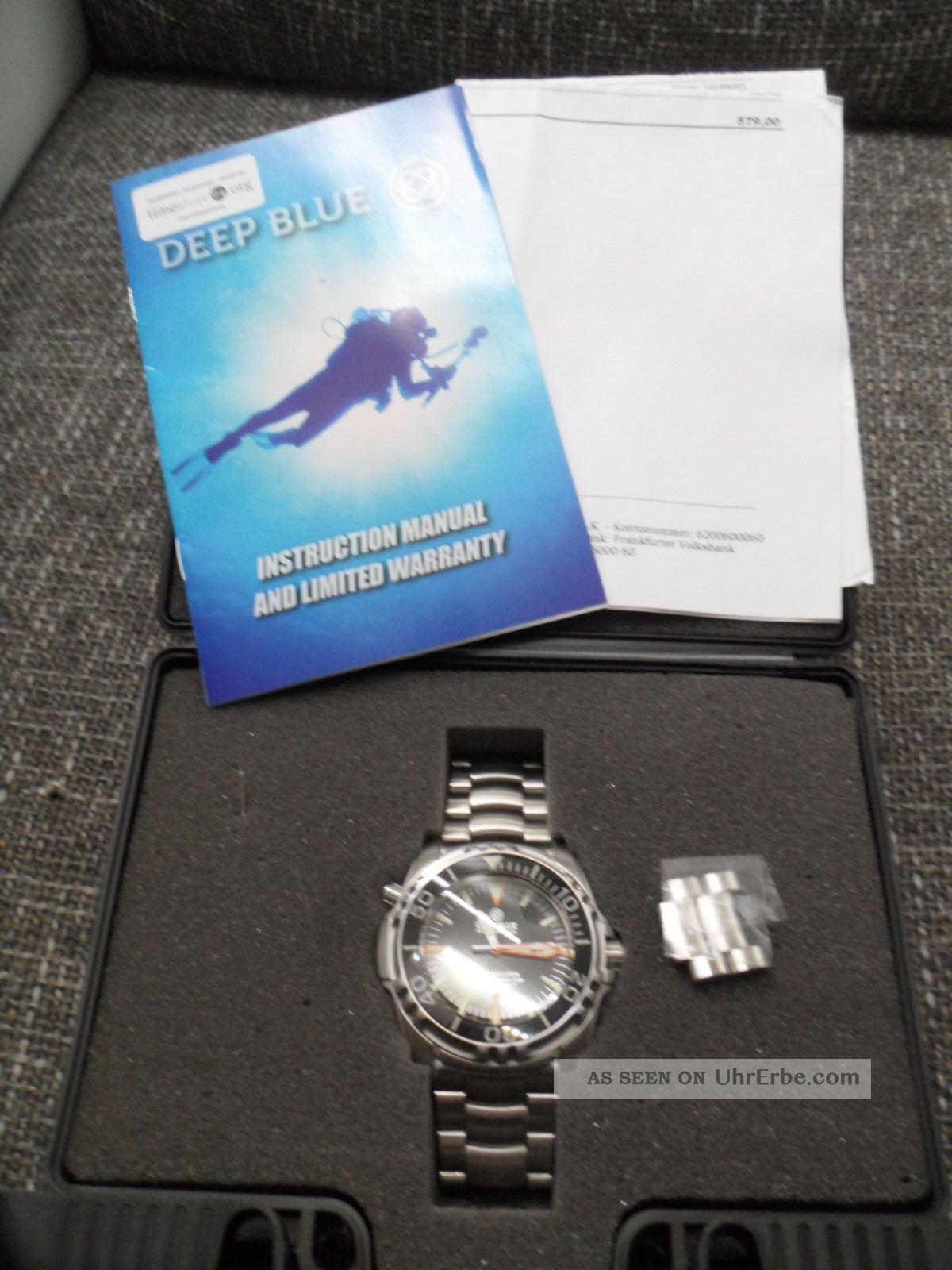 Deep Blue Depthmaster Precision Diver 3000m Armbanduhren Bild