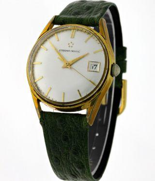 Vintage Eterna - Matic Date Herren Gold - Automatik Cal.  1422ud - FÜnfziger Jahre Bild