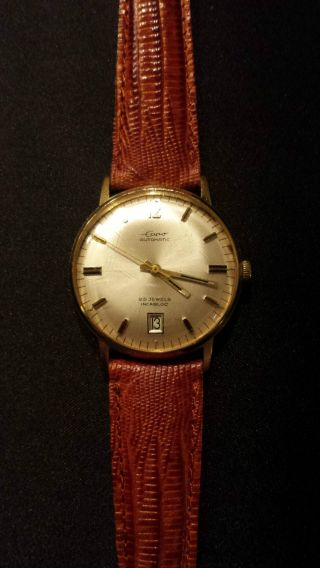 Eppo Automatik 25 Jewels Armbanduhr Braunes Lederband Leather Bild