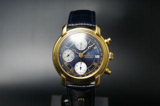 Maurice Lacroix Chronograph Automatik Herrenuhr Valjoux 7750 Inkl.  Box Bild
