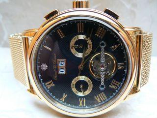 Raoul U.  Braun Rub 05 - 0188 Automatikuhr Ip - Vergoldet Chronograph Edelstahl Uhr Bild