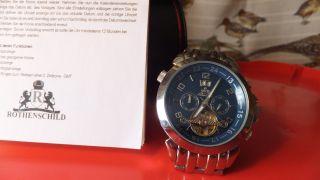Rothenschild Automatikuhr Stingray Gmt - Stahl/blau Bild
