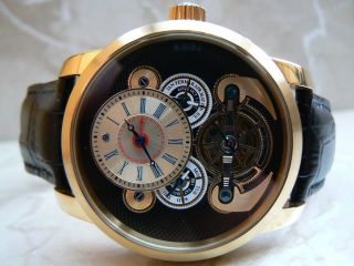 Raoul U.  Braun Rub 05 - 0138 Exklusive Automatikuhr Uhr 5 Atm Edelstahlgehäuse Bild