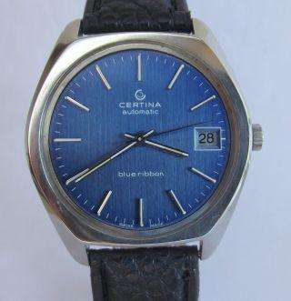 Hau Certina Blue Ribbon Automatic,  Cal.  Certina 25 - 651 M,  Um 1970 Bild