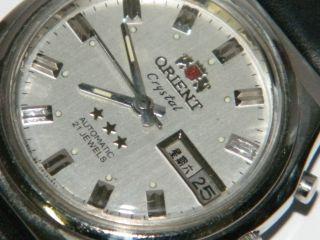 Orient Crystal Automatic,  Datum Japanisch Dau Vintage Wrist Watch,  Repair Bild