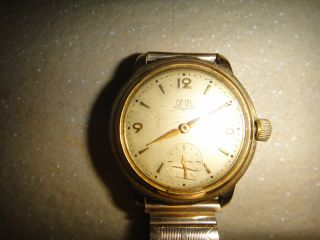 GlashÜtte Gub Automatik Herren Armbanduhr Ca.  1960 Vergoldet Bild