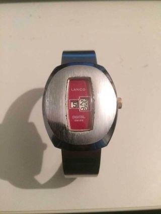 Lanco Herrenuhr - Digital Automatic - Automatische Uhr - Retro - Vintage Bild