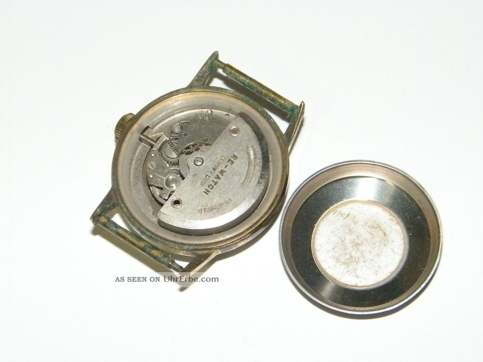 Re Watch Brevet Dem. Automatic Vintage Wrist Watch, Repair