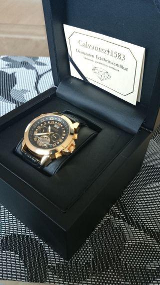Armbanduhr Calvaneo 1583 Astonia Diamant Gold Uhr Bild