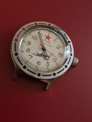 Vintage Vostok Amphibia Taucheruhr Automatik,  Mit Datumsanzeige,  Funktioniert Bild