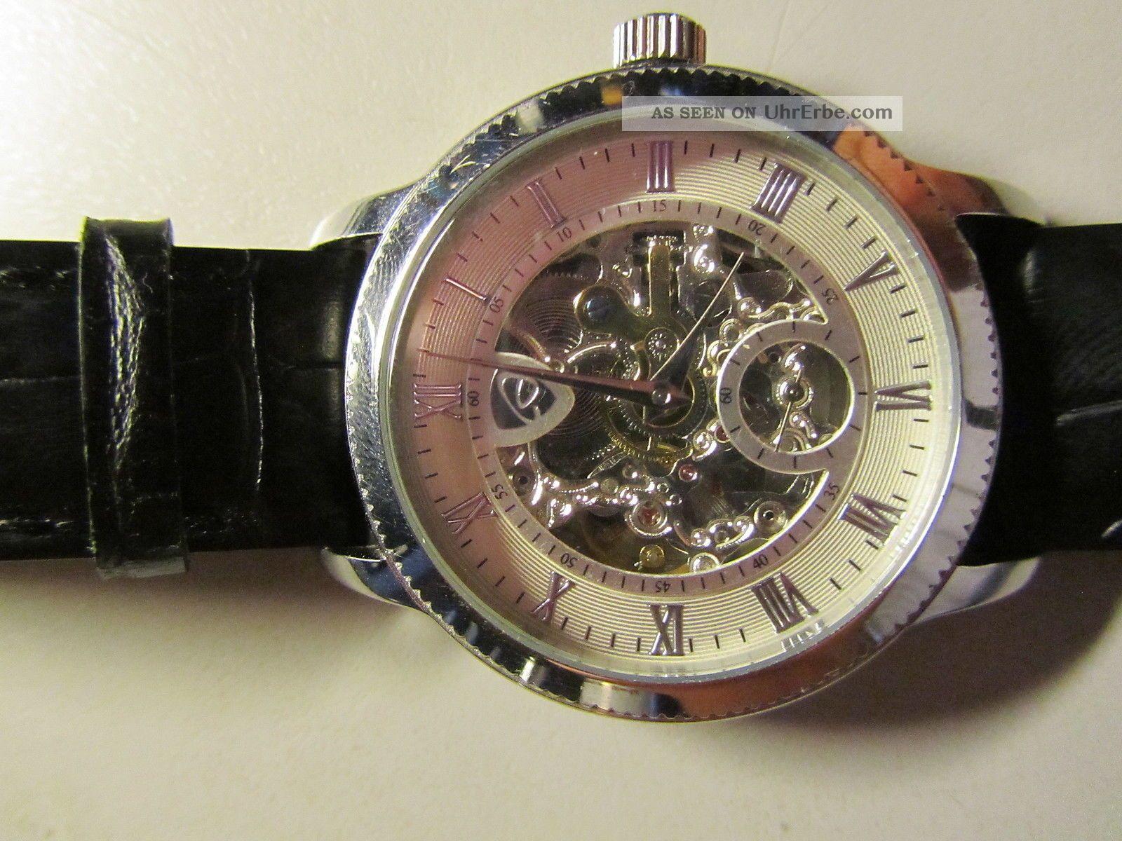 auriol automatik armbanduhr in geschenkbox herren uhr. Black Bedroom Furniture Sets. Home Design Ideas