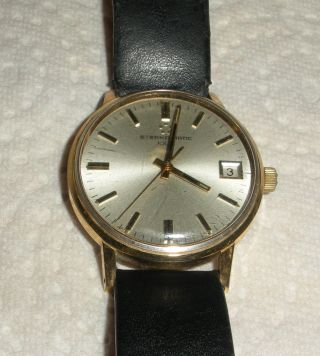 Eterna Matic 1000 Herrenarmbanduhr 20 Micron Gold Electroplate 60/70 Jahr Bild