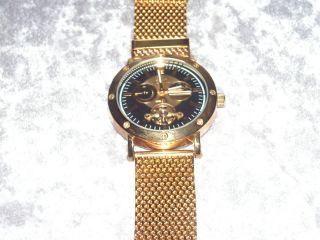 Graf Von Monte Wehro Armbanduhr Automatic Mit Milanaise Armband Vergoldet Bild