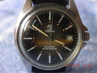Yema Antik Classik Herren Uhr Date 55 18 52 Automatic Sous - Marine Bild