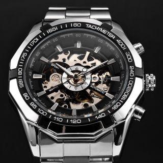 Winner Automatikuhr Mechanische Uhr Automatik Herren Uhr Metall Armband Uhr D Bild