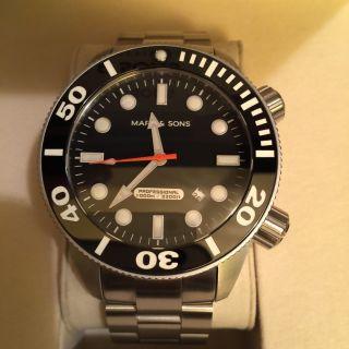Marc & Sons Professional Automatik,  Diver Watch,  1000m - Helium - Ventil - Msd - 020 Bild