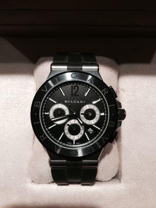 Luxus Bulgari Bvlgari Diagono Chronograph Armbanduhr Black Keramik Edelstahl Bild