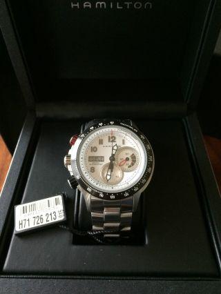 Hamilton Khaki Tachymiler Chronograph H71726213 In Ovp Plus Orig.  Reisebox Bild