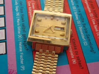 Vintage Rado Manhattan Automatik 25 Jewels - Goldmantel Bild