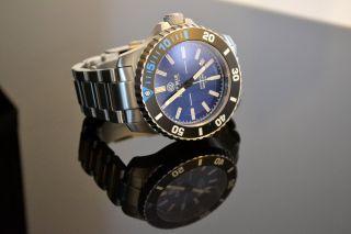 Deep Blue Daynight T100 Automatik Diver Tritium Blaues Ziffernblatt Bild
