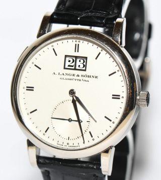 A.  Lange & Söhne Saxonia Weiß Gold Uhr Ref 315.  026 Box Papiere V.  2010 Bild