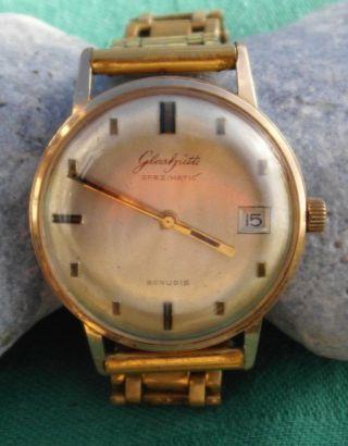 Klassische Uhr Ddr Gub Glashütte Spezimatic Datum 26 Rubis Um 1960 - 70 Bild