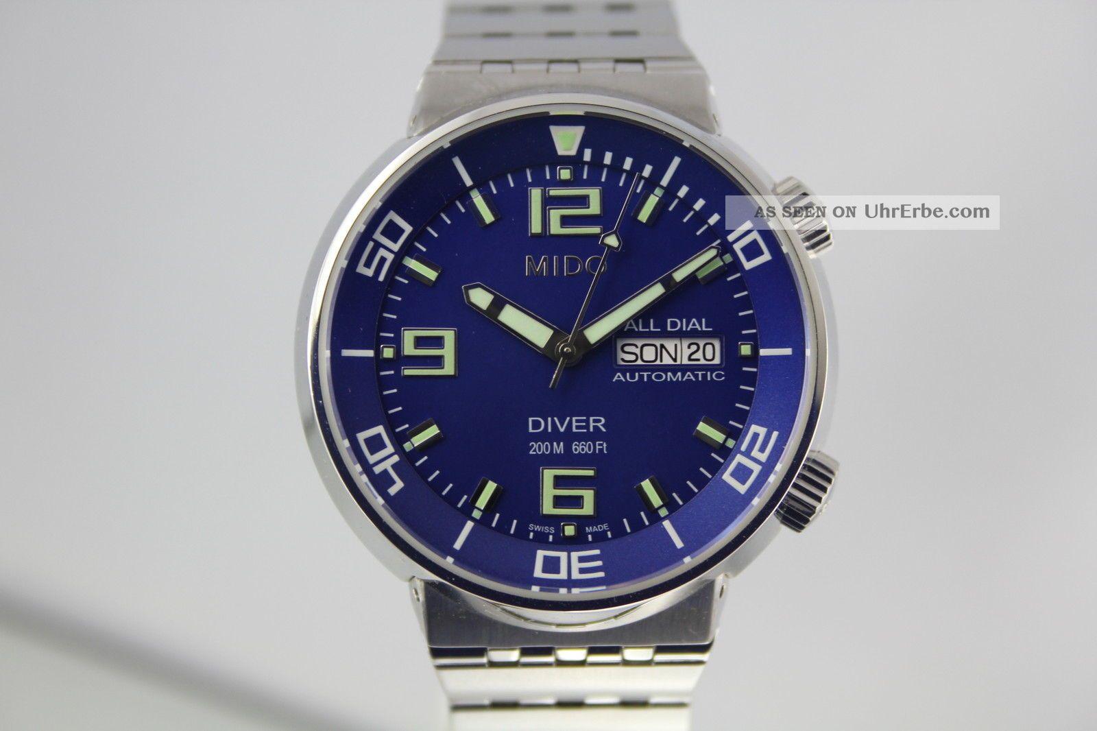 Mido Diver All Dial 8370 1a,  Stahlband,  Box Armbanduhren Bild