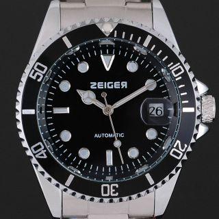 Mechanisch Automatik Herrenuhr Herren Uhr Edelstahl Armbanduhr Datumsanzeige Bild