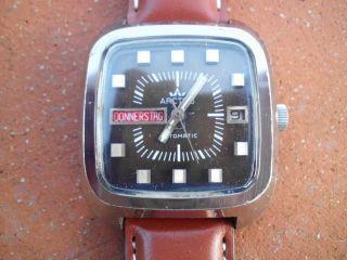 2 X Alte Schöne Uhren - Herrenuhren Automatic Arctos - Sehr Selten Bild