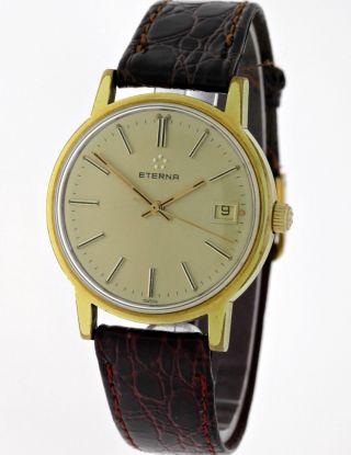 Vintage Eterna Herren Handaufzug Kal.  12804 Gold Siebziger Jahre - SammlerstÜck Bild