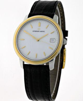 Eterna Matic 1856 Klassik Herren Armbanduhr Edelstahl/18kt.  Gold - Dresswatch Men Bild