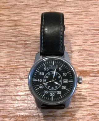 Herren Automatik Armbanduhr Trias Leuchtzeiger Fliegeruhr Verschraubte Krone Bild