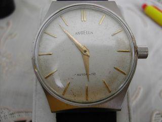 Angelus,  Le Locle,  Swiss,  Herrenarmbanduhr,  Automatic Kal.  Eta 2451.  Sehr Seltene Uhr Bild
